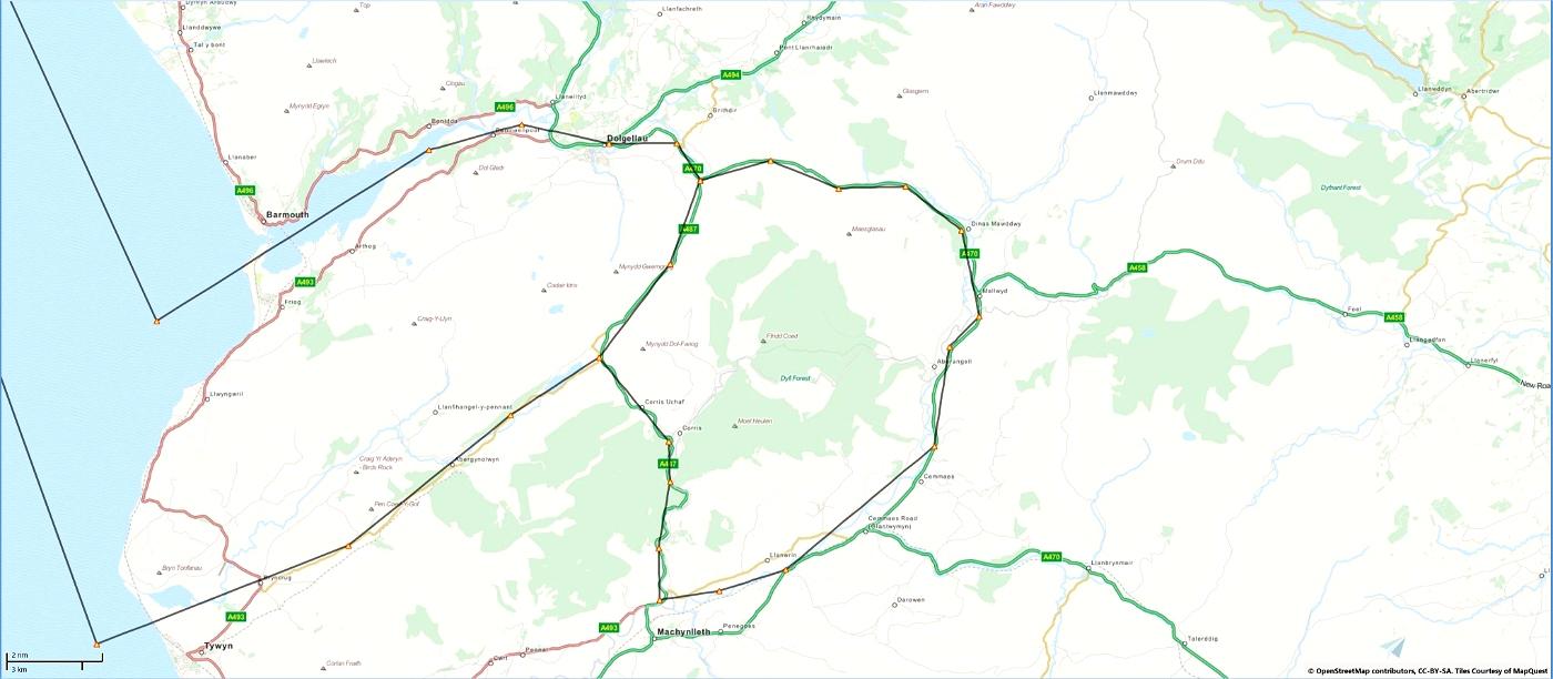Mach Loop - Low Flying Area 7 (RAF/USAF), Wales, Snowdonia, UK (Flight Plans) Flight Simulator 2020