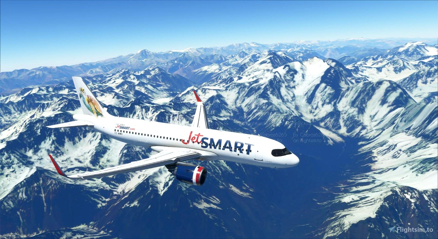 JetSmart A320Neo Livery Flight Simulator 2020