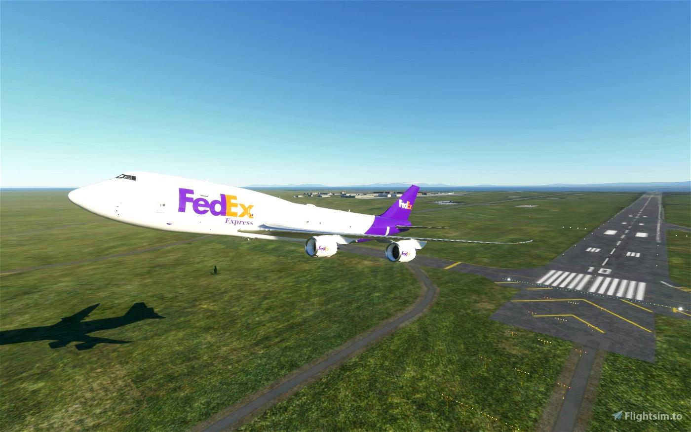 Boeing 747-8F FedEx cargo livery