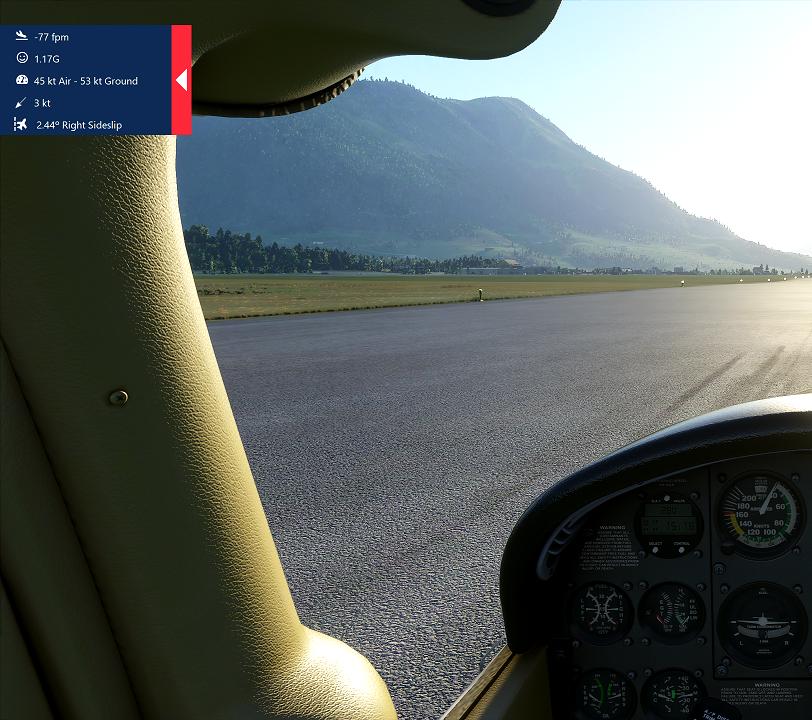 Gees - In game landing analysis Flight Simulator 2020
