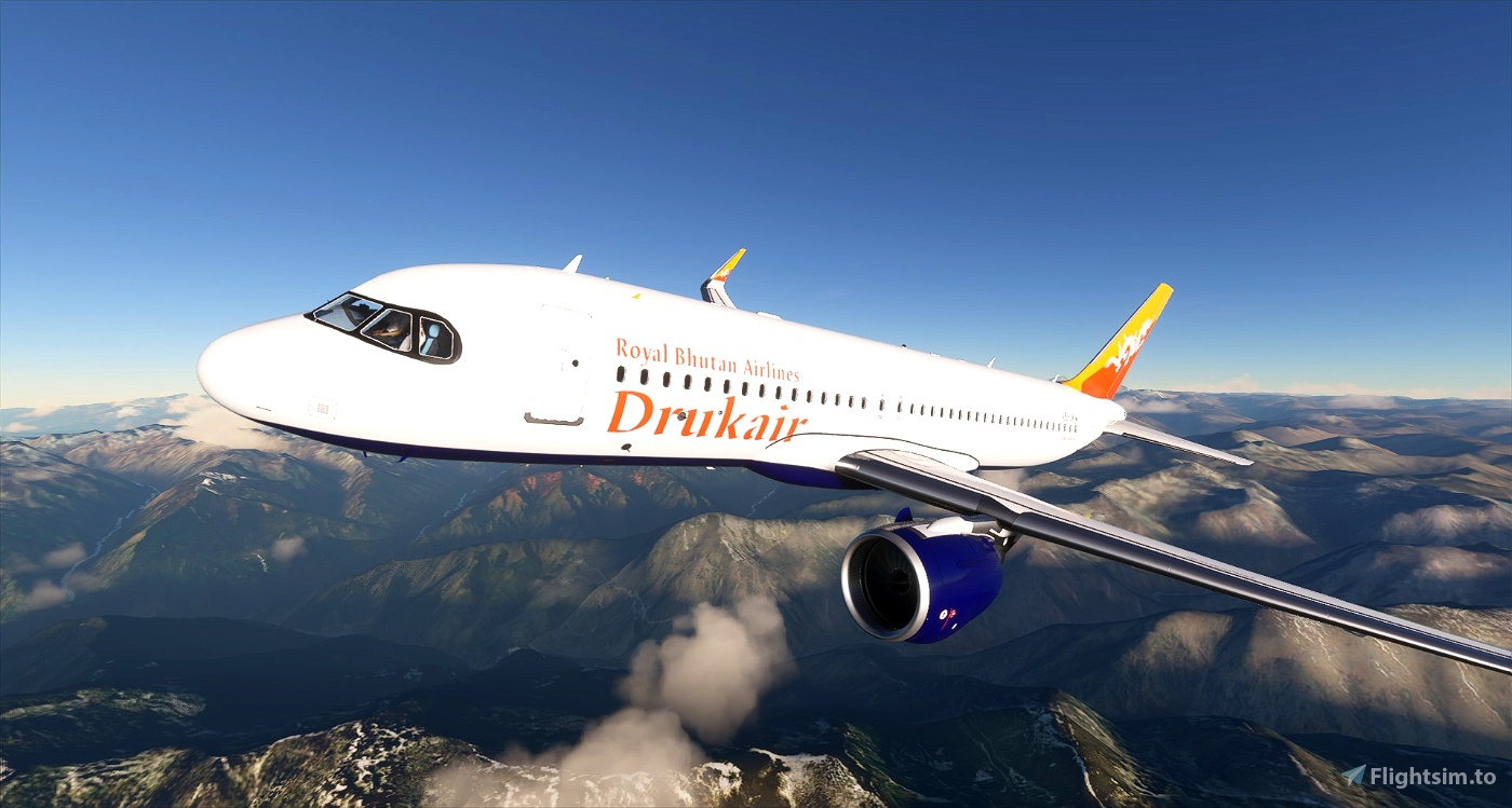Drukair - Royal Bhutan Airlines - 8K Flight Simulator 2020