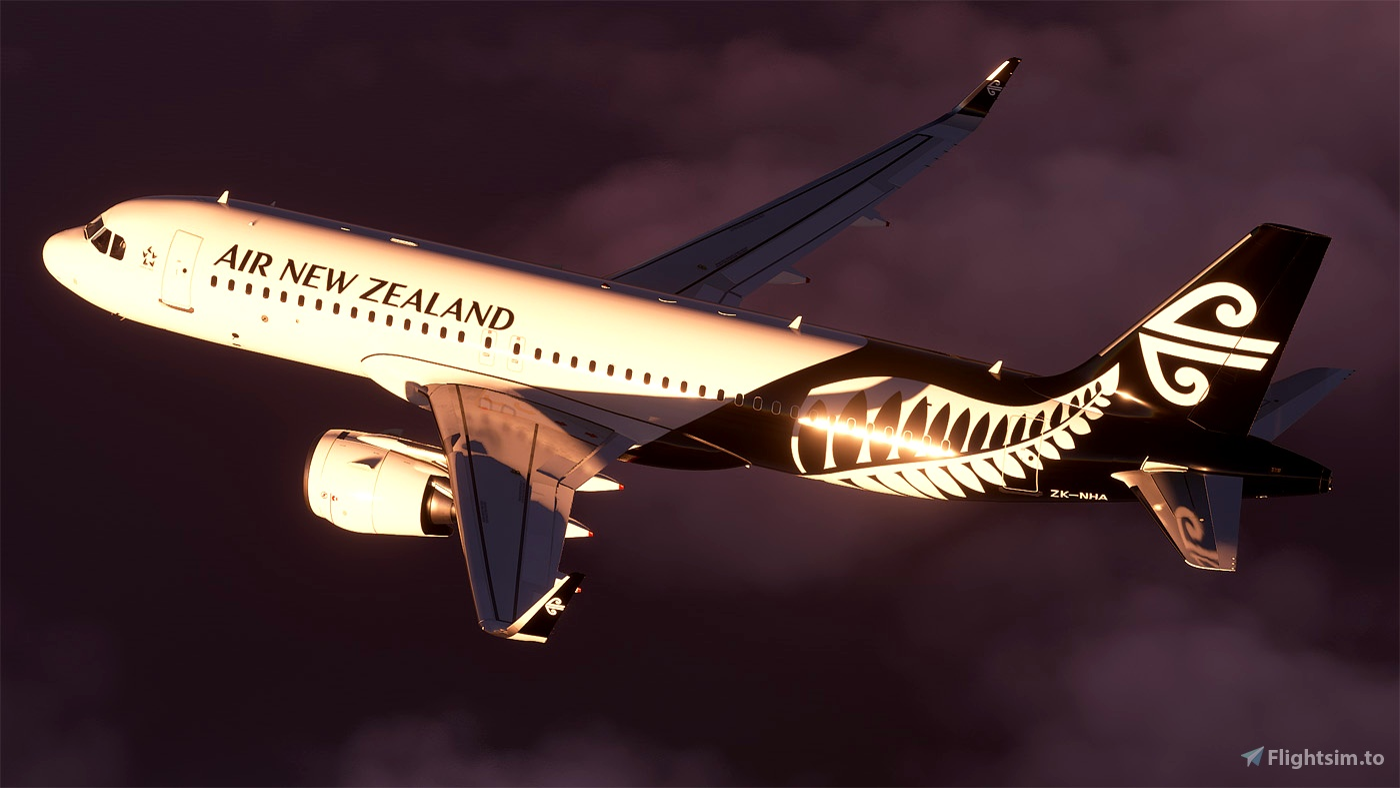 [A32NX] Air New Zealand A320 neo ZK-NHA 8K Microsoft Flight Simulator