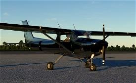 C152 Shiny bare metal livery Image Flight Simulator 2020
