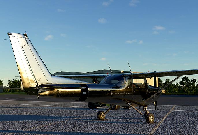 C152 Shiny bare metal livery