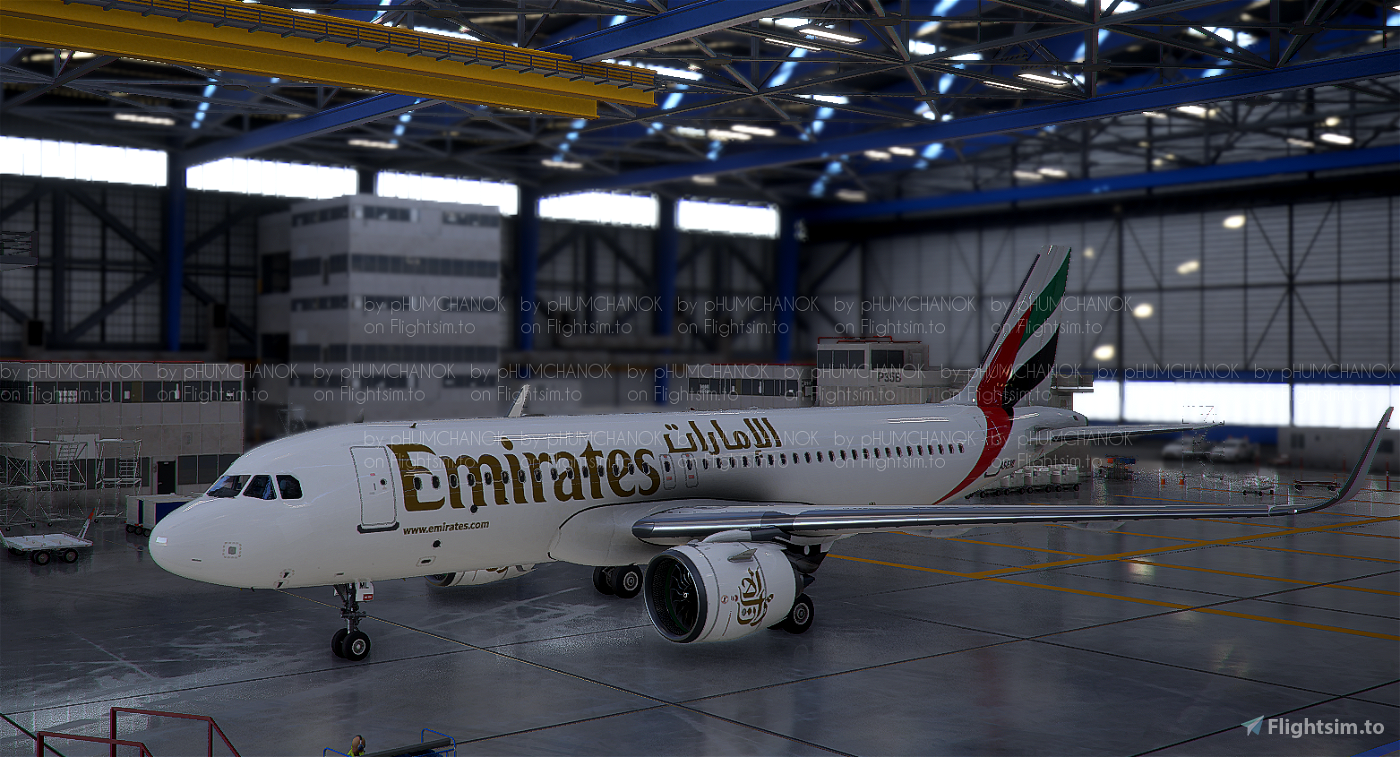[High Res]Emirates A320 Neo Flight Simulator 2020