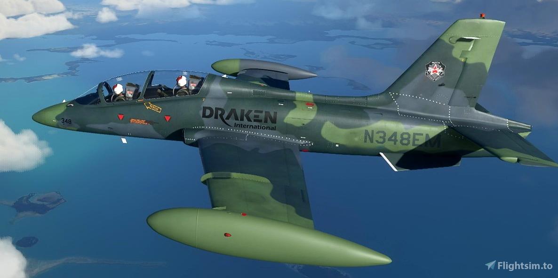 Aermacchi MB-339 Draken International N348EM Flight Simulator 2020