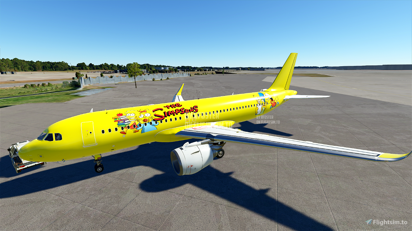 A320 The Simpsons Livery