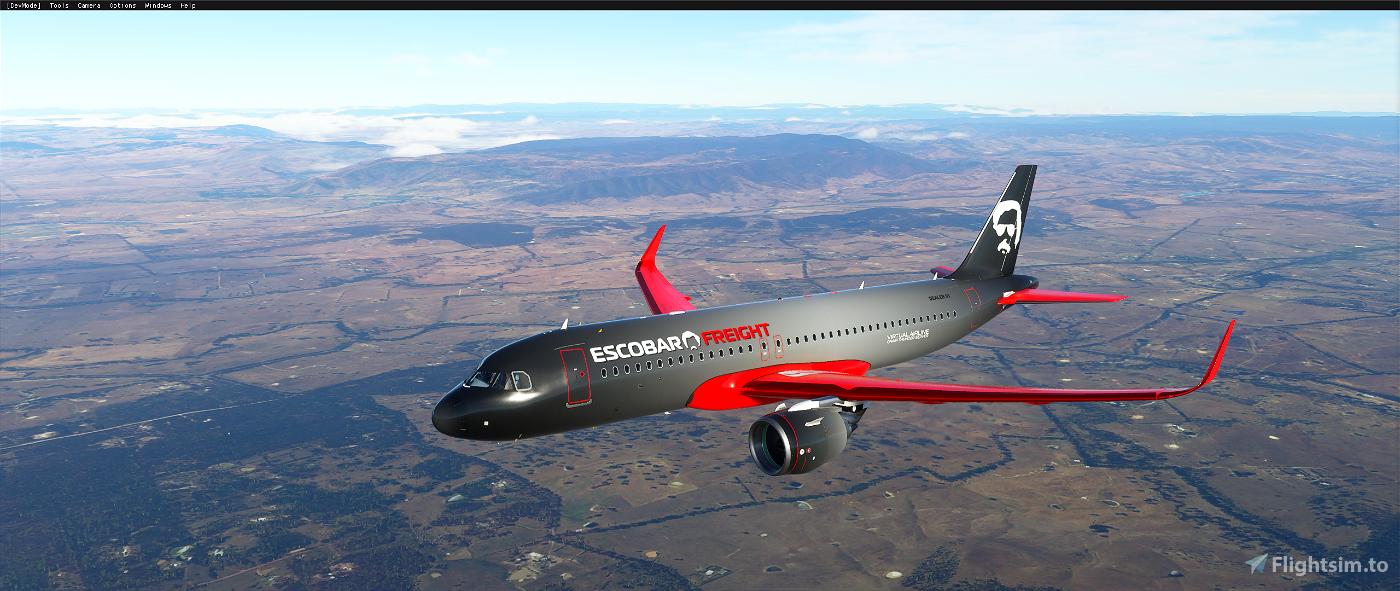Airbus A320neo Escobar Freight Livery Flight Simulator 2020