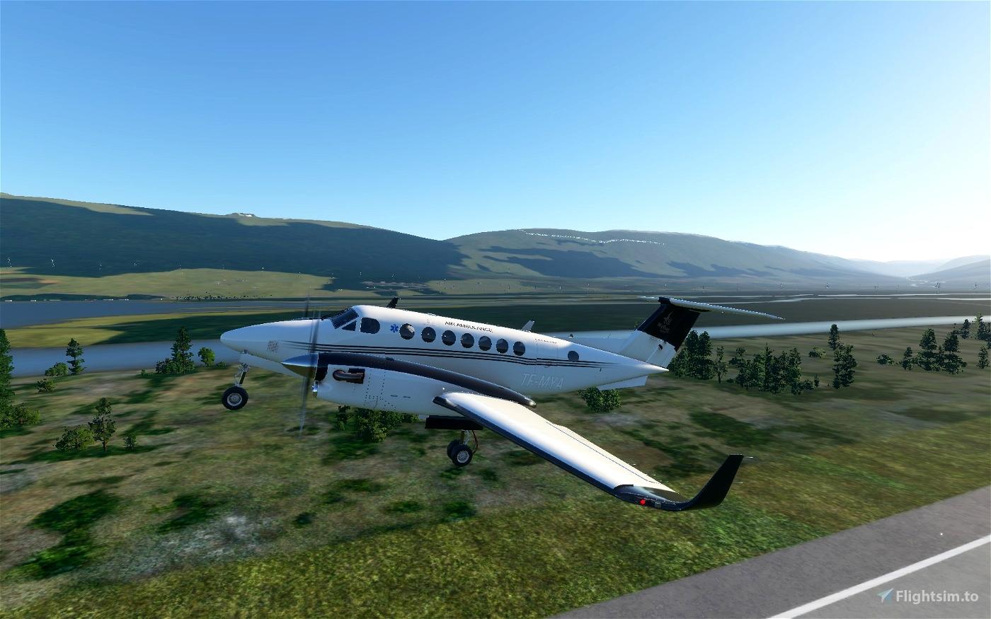 Beechcraft 350 Mýflug Air Ambulance TF-MYA Flight Simulator 2020