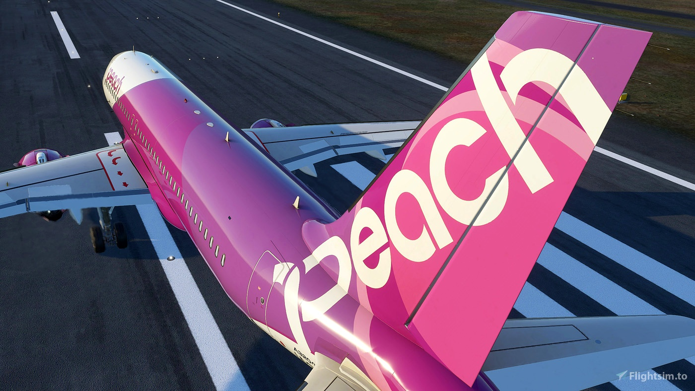 Peach Aviation A320 Neo JA201P 8k Flight Simulator 2020