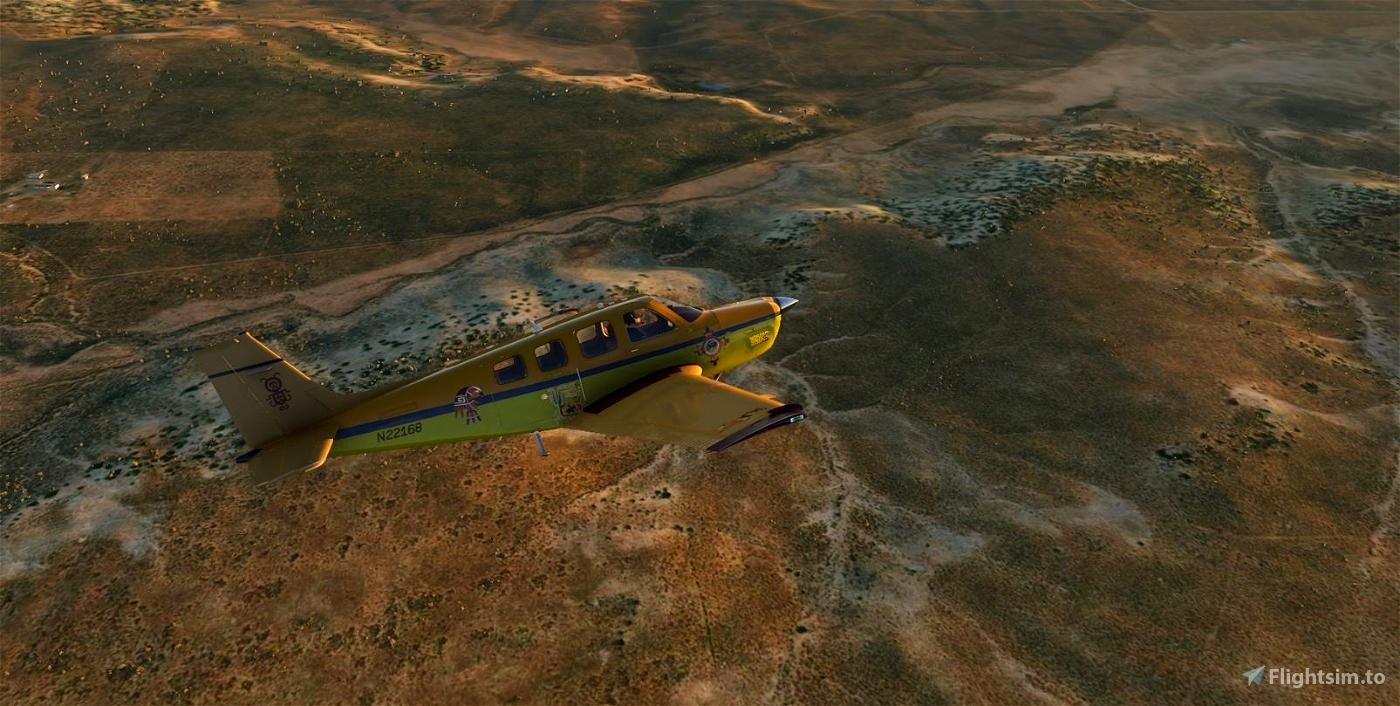 Bonanza G36 N22168 OG-Hopi Flight Simulator 2020