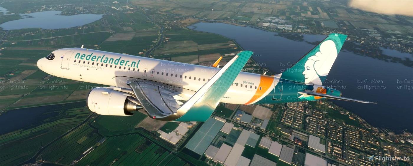 Nederlander A320neo Livery (4k) Flight Simulator 2020