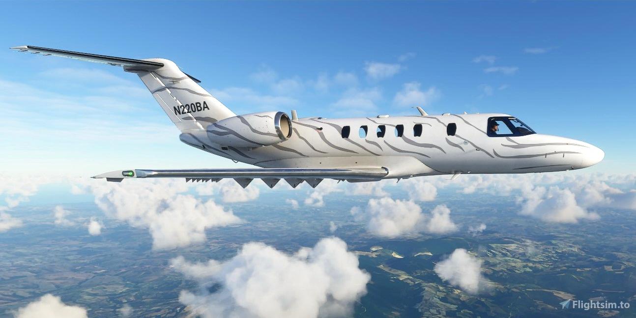 Cessna CJ4 Citation N220BA Flight Simulator 2020