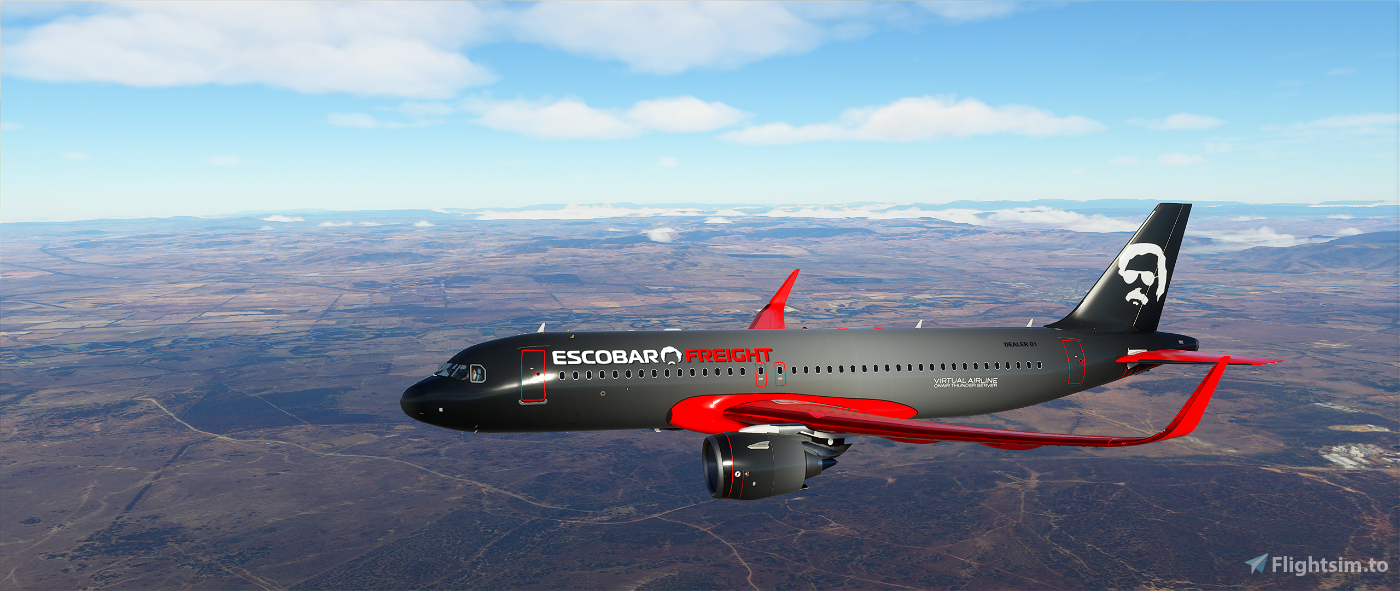 Airbus A320neo Escobar Freight Livery