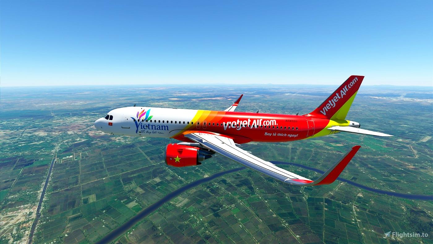 VietJet Air[4K](Update fix) Flight Simulator 2020