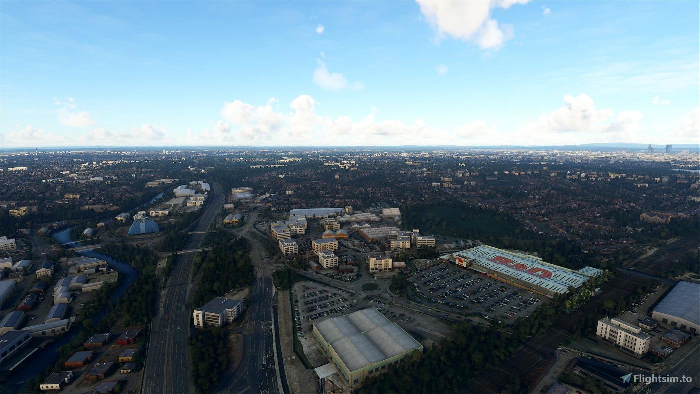Manchester (EGCC) Approach Landmarks Flight Simulator 2020