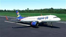 Spirit Airlines (Old Livery)[4K](Update fix) Image Flight Simulator 2020
