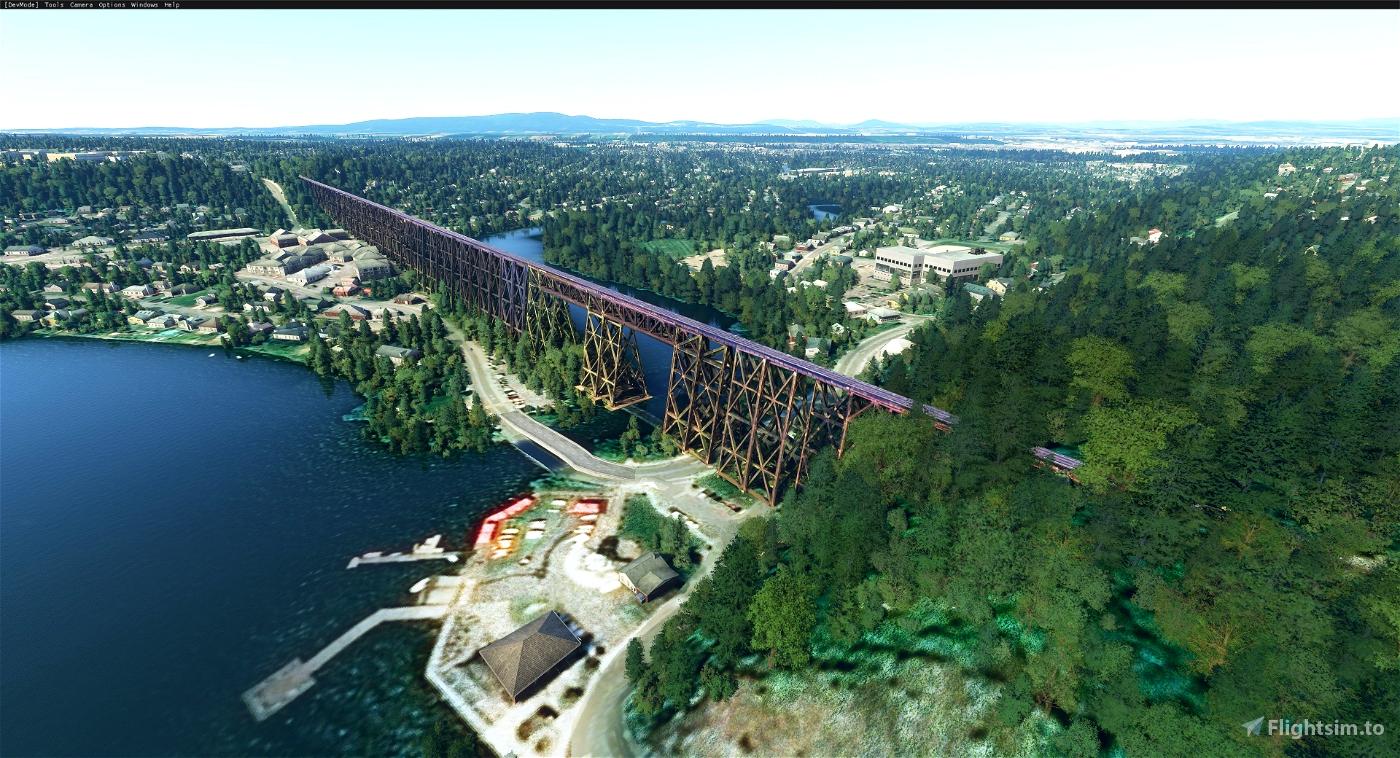 Cap-Rouge trestle bridge, Quebec Image Flight Simulator 2020