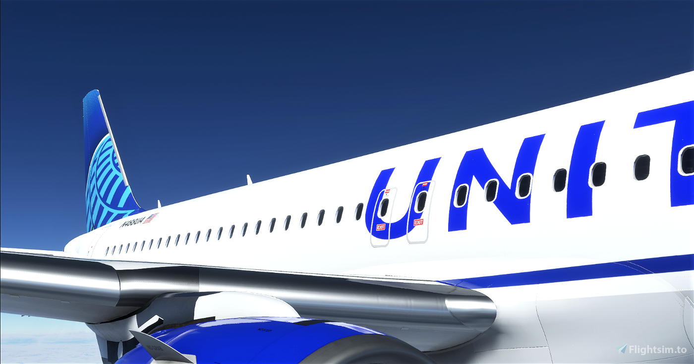 8K United Airlines Blue Livery A320neo