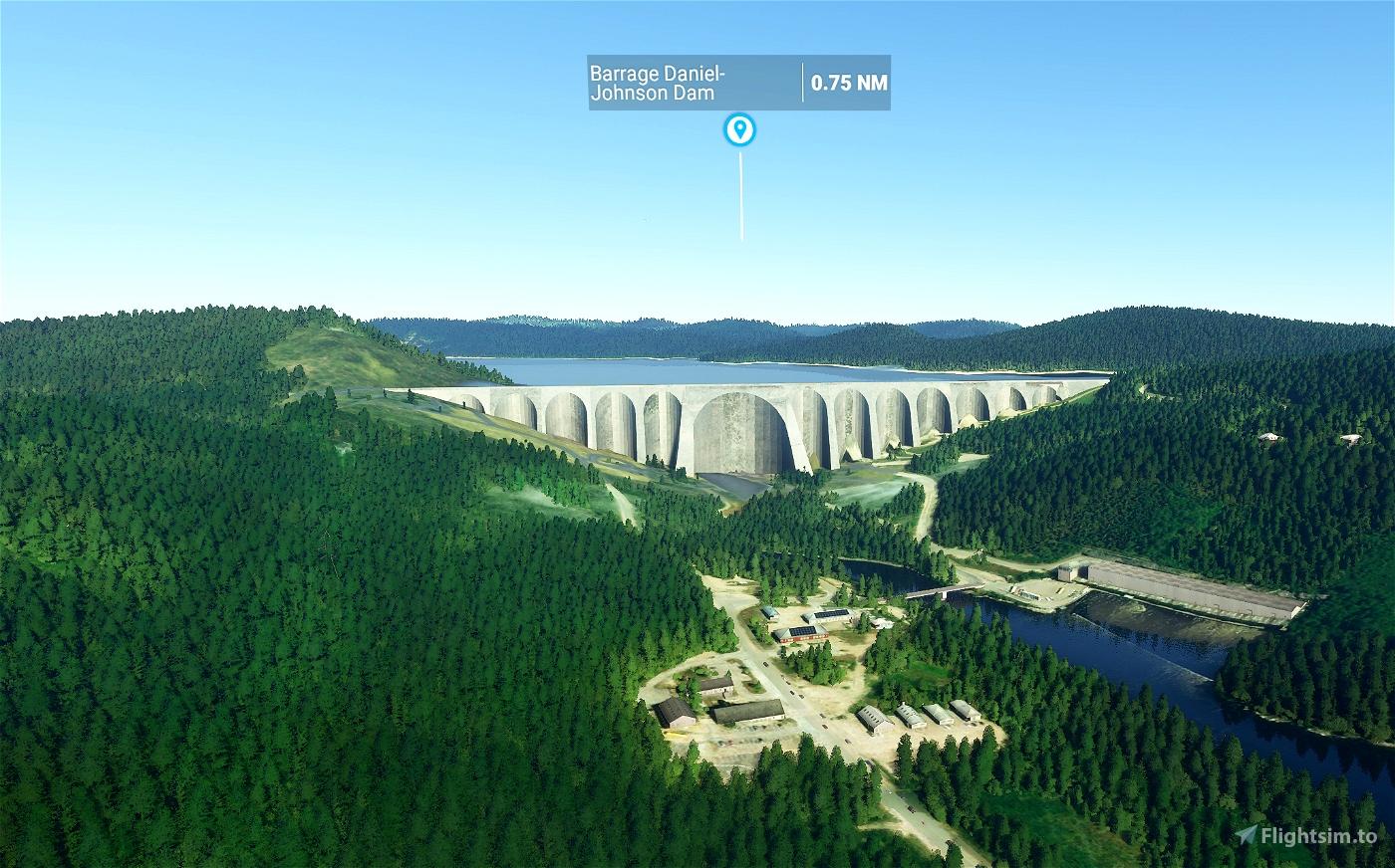 Daniel-Johnson Dam - Manic 5 Microsoft Flight Simulator