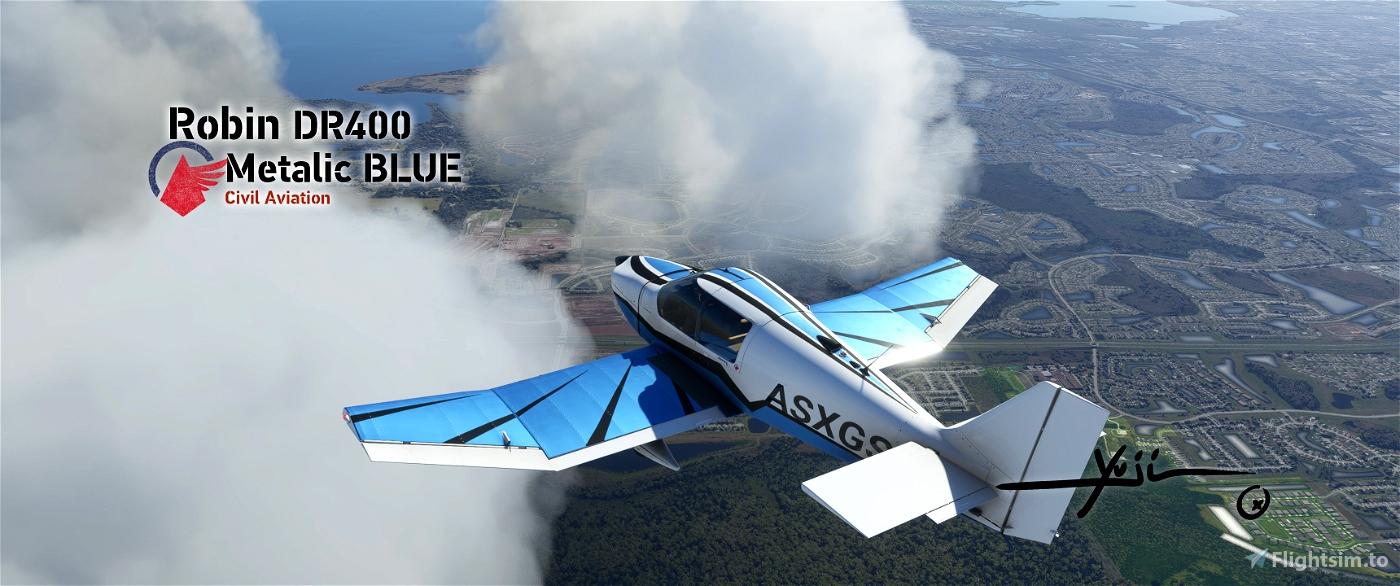 Robin DR400 Metalic BLUE