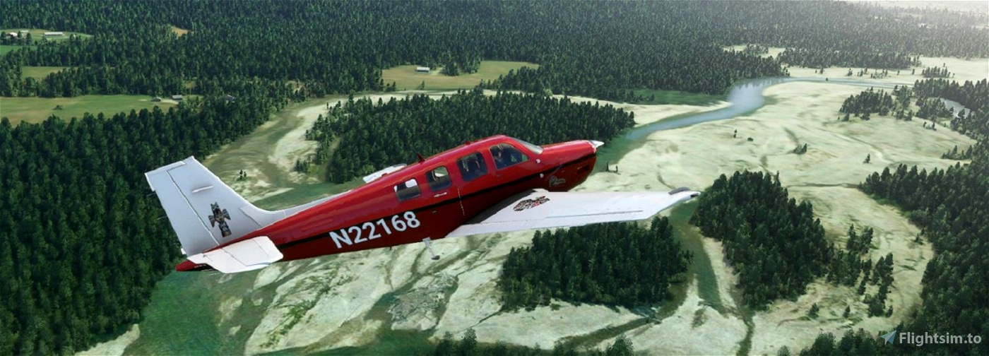 Bonanza G36 N22168 US-Crimson Flight Simulator 2020