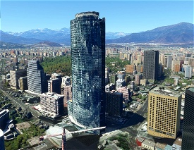 Torre Titanium, Santiago - Chile Microsoft Flight Simulator