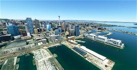 Auckland New Zealand (hand crafted, no photogrammetry) Now with night lighting. Microsoft Flight Simulator