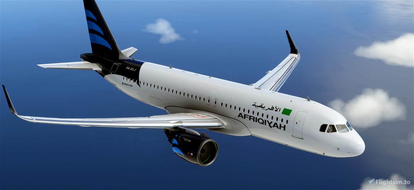 Afriqiyah Airways - pre 2011/old Libyan flag [patch 5]