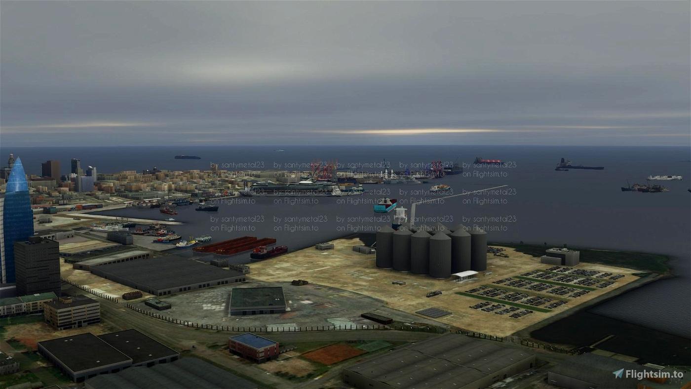 Montevideo,puerto de la ciudad Microsoft Flight Simulator