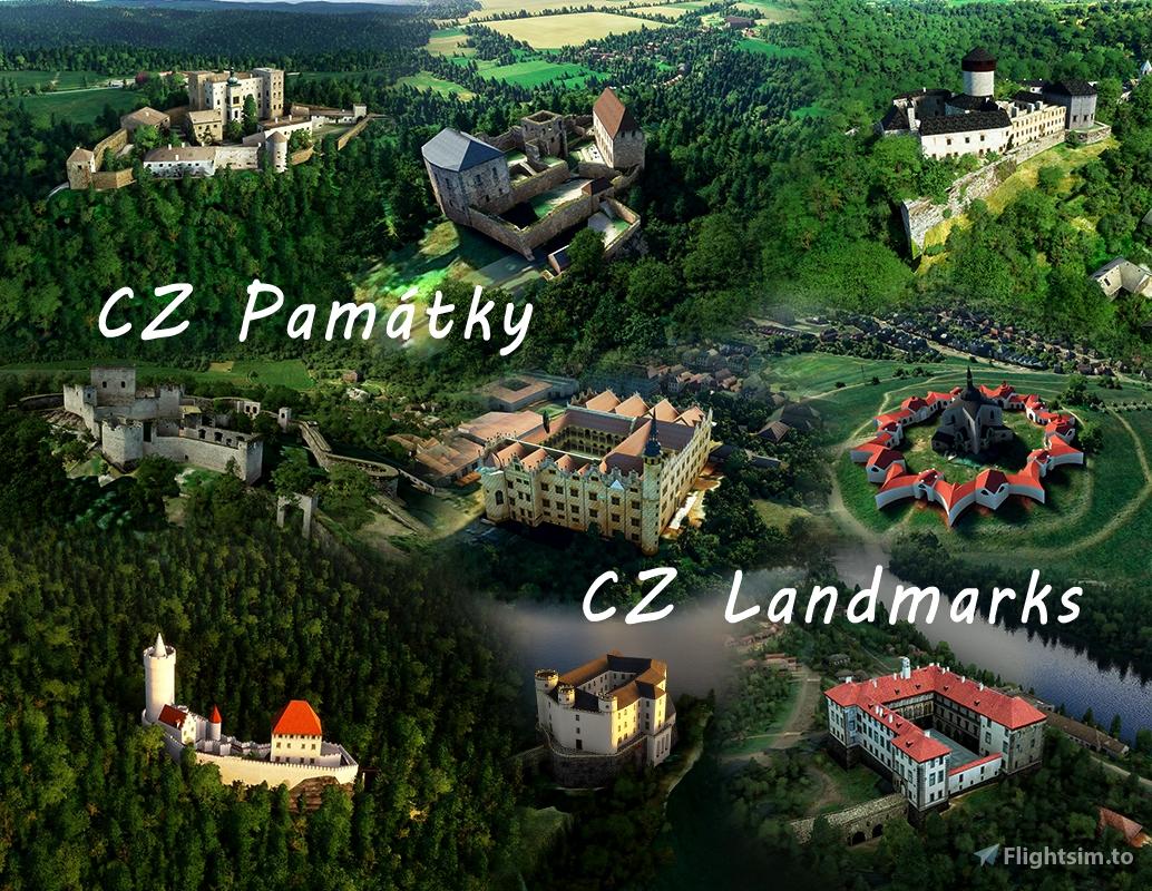 CZ Landmarks Microsoft Flight Simulator