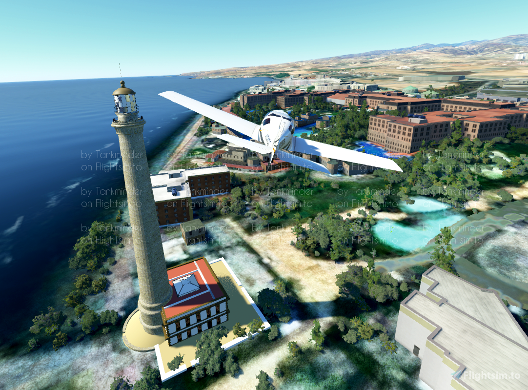 Maspalomas Lighthouse (Farro de Maspalomas), Gran Canaria, Microsoft Flight Simulator