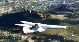 Basilique de Valère et château de Tourbillon Sion  Microsoft Flight Simulator