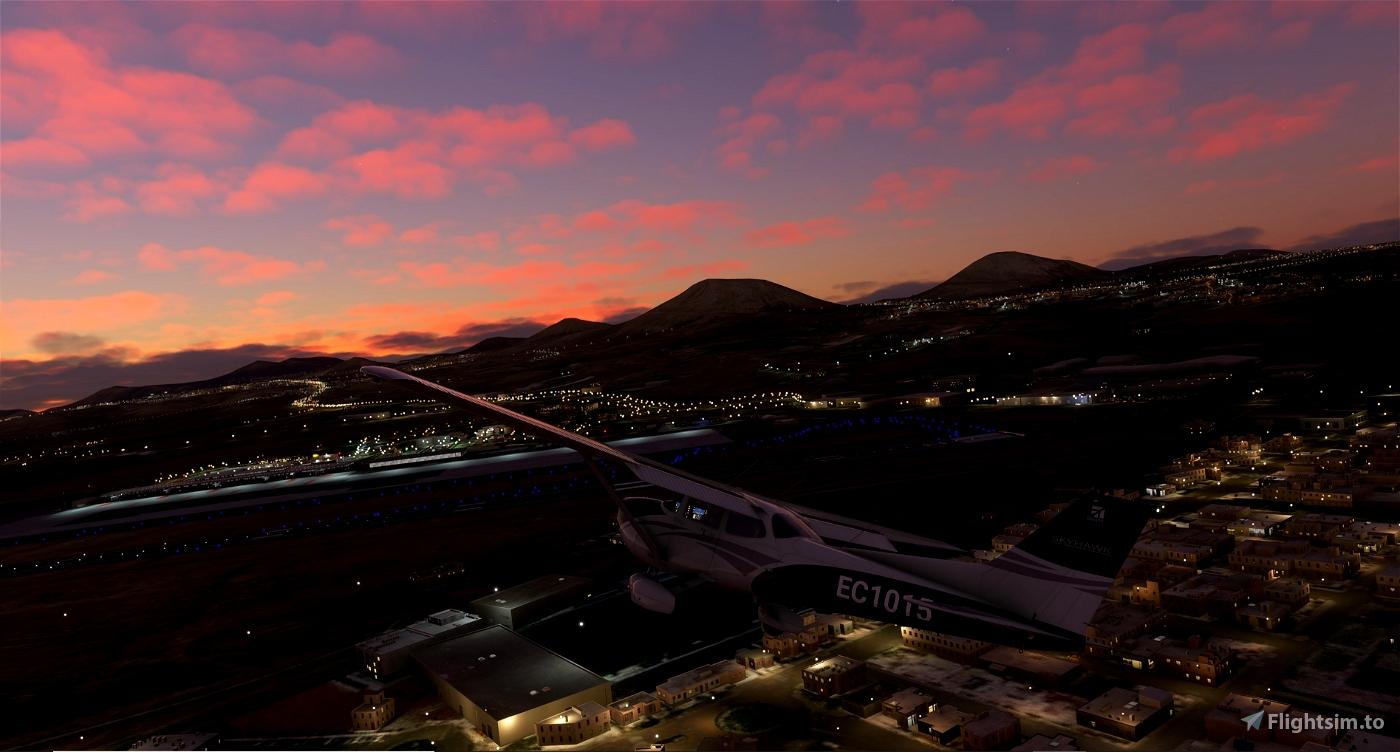 Luces del Aeropuerto de Lanzarote