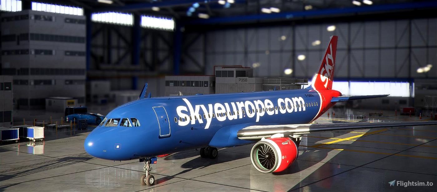 SkyEurope A320N Livery