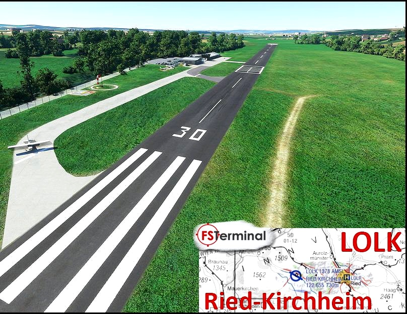 LOLK Flugplatz Ried-Kirchheim Flight Simulator 2020