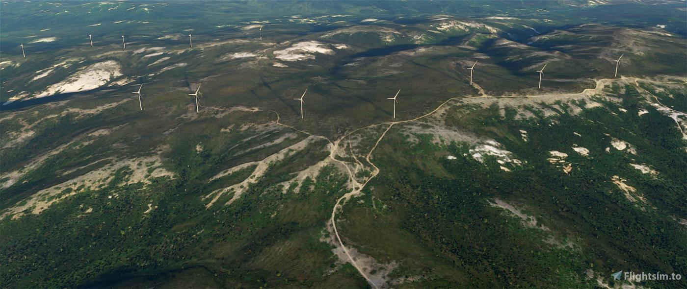 Eva Creek Wind Farm outside Talkeetna Alaska Microsoft Flight Simulator