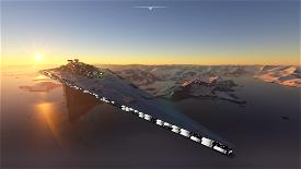 Empire Star Destroyer Executor Airport ESDE Microsoft Flight Simulator