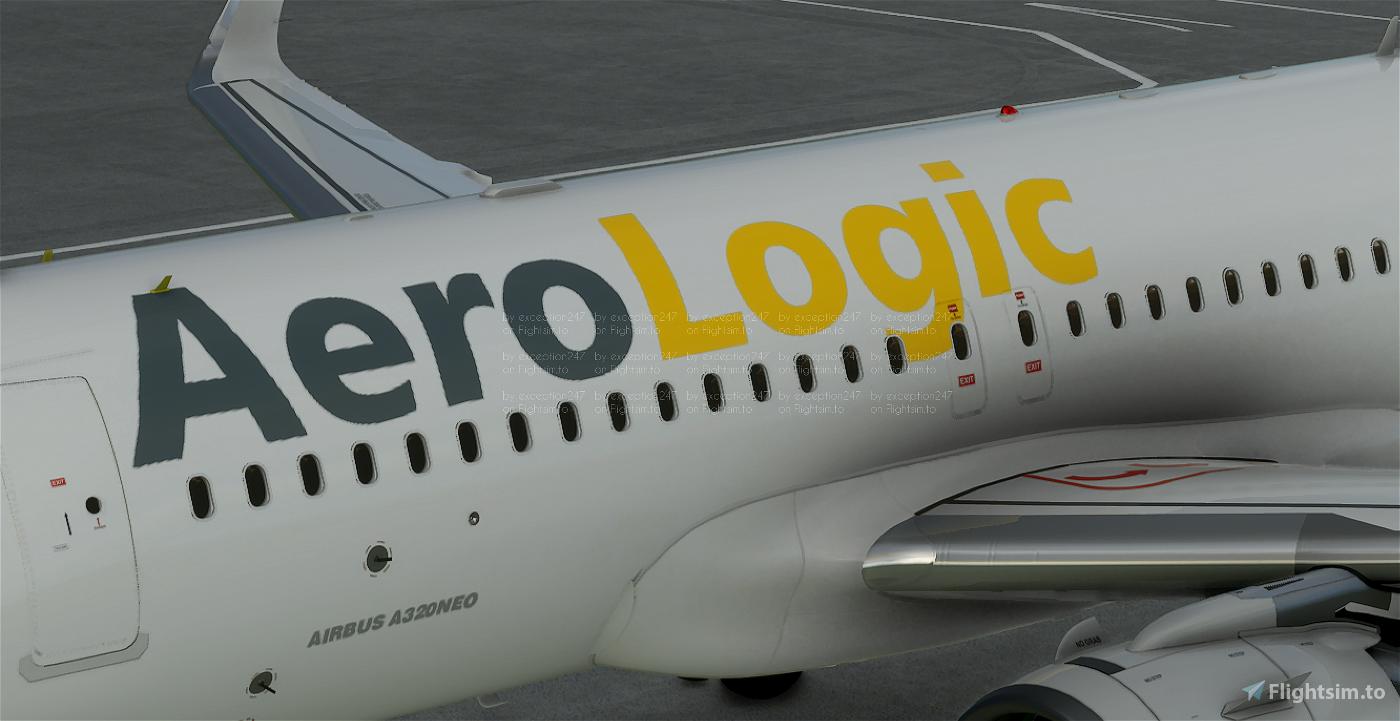AeroLogic A320N Cargo Livery