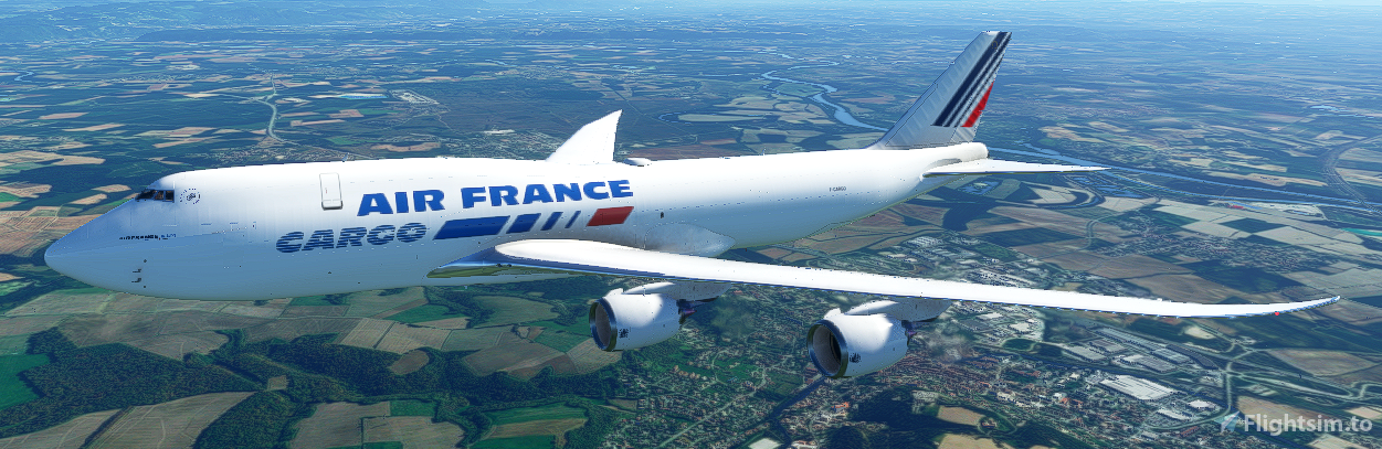 Boeing 747-8 Air France CARGO Flight Simulator 2020