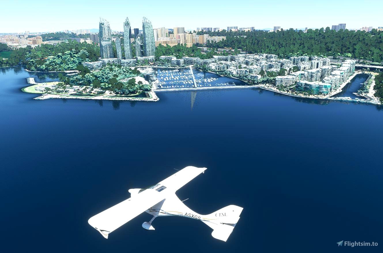 Keppel Bay - Singapore Microsoft Flight Simulator