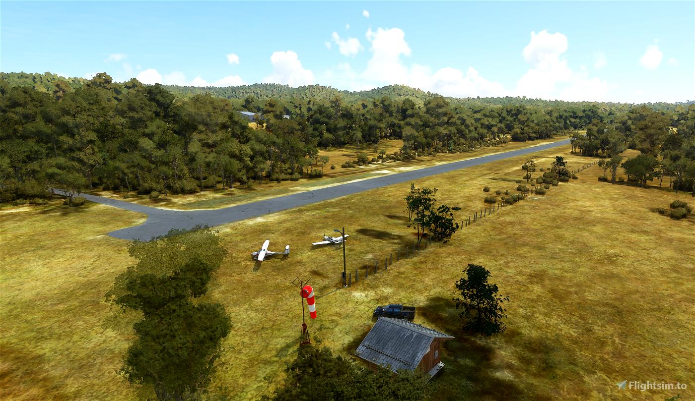 YCHB Cherrabah Airport, Warwick Microsoft Flight Simulator