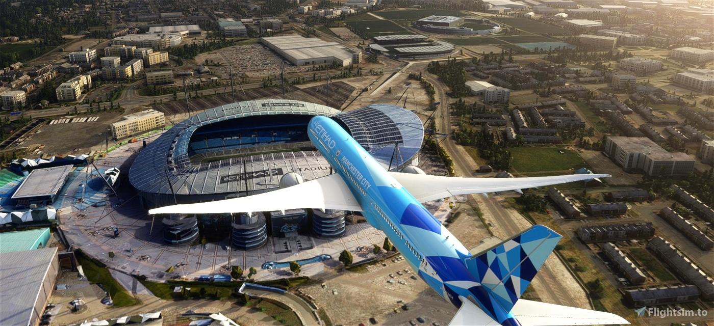 Etihad 787-10 Manchester City Special Scheme A6-BND Flight Simulator 2020