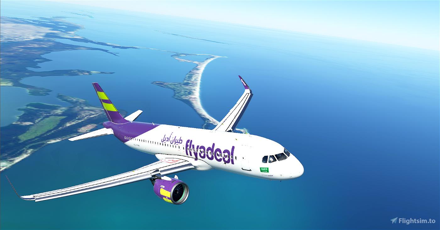 A320neo flyadeal (HZ-FAK) Microsoft Flight Simulator