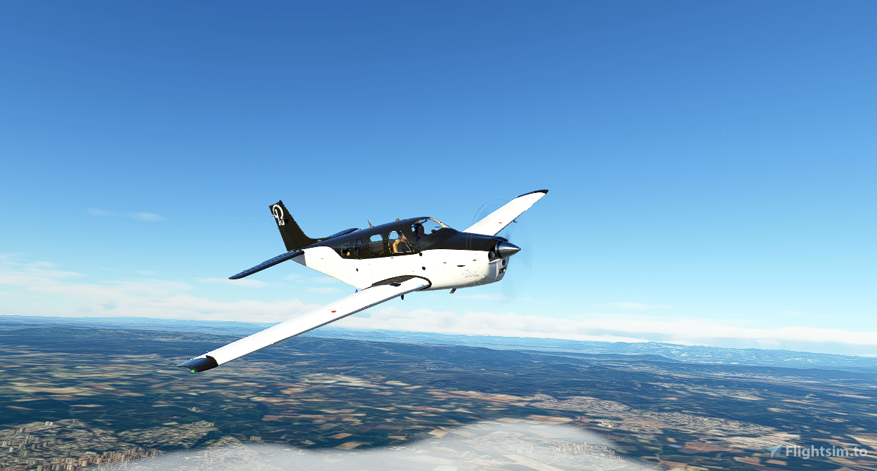 Bonanza Black/White (4K Updated) Flight Simulator 2020