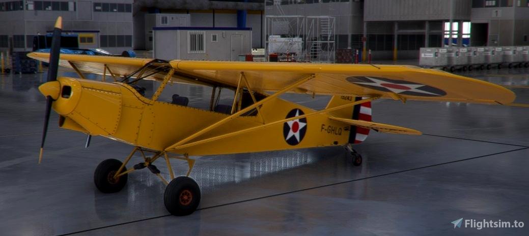 US Army Air Corp Piper Cub Flight Simulator 2020