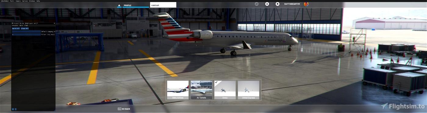 American Eagle CRJ-700 Flight Simulator 2020
