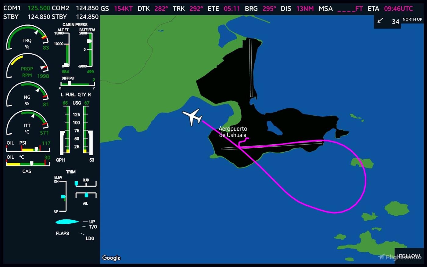 MSFS G3000 MFD Screen for Tablets Flight Simulator 2020