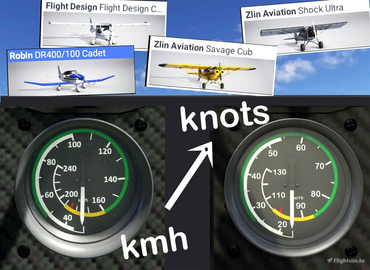 Aircraft ASI in Knots Flight Simulator 2020