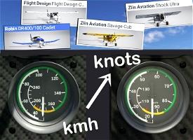 Aircraft ASI in Knots Image Flight Simulator 2020